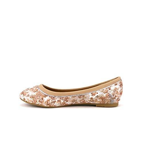 Cendriyon Ballerine à Dentelle Beige Anais Chaussures Femme Beige