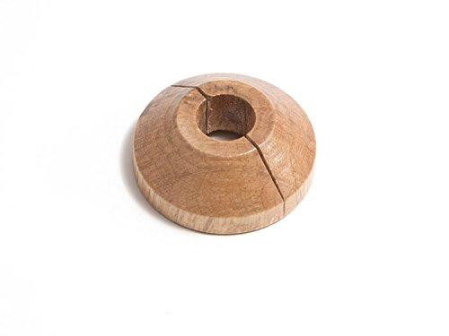 Rohrmanschetten Rose Abdeckung Holz Eiche massiv für 15mm Rohre 2er Pack