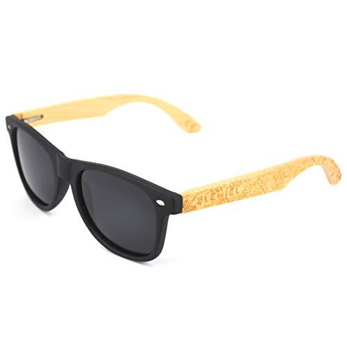 LEMIEL - DIE ÖKO-HOLZBRILLE - Hochwertige Holzsonnenbrillen aus Bambus - Polarisiert - Damen & Herren - Bambus-Etui - UV 400-1 Artikel = 1 Baum. (FRA Bamboo)
