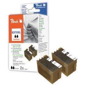 Peach Doppelpack Tintenpatronen schwarz kompatibel zu Epson No. 27XXL, T2791