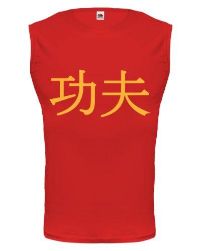 buXsbaum® Tank Top Kung Fu Red-Sunflower
