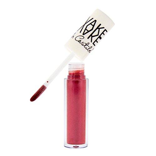 Xshuai 11.4 * 1.3cm wasserdichter flüssiger Lippenstift Lipgloss feuchtigkeitsspendender langlebiger Diamant-Lippenglanz (L)
