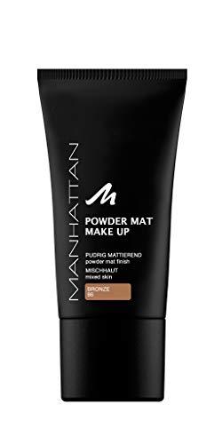 Manhattan Powder Mat Make-up, Mattierendes Puder und Foundation in einem, Farbe Bronze 86 (1 x 30ml)