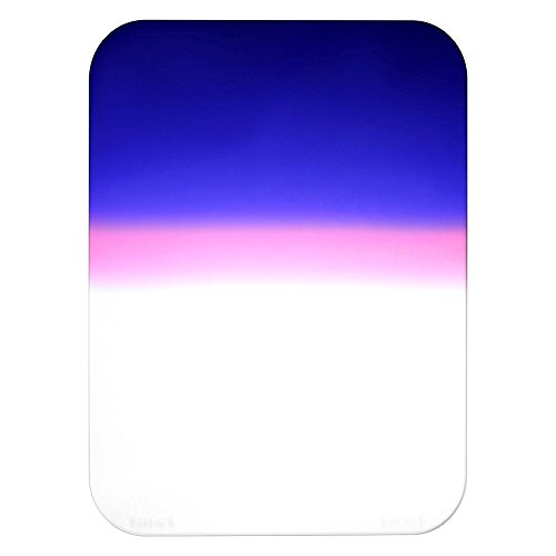 Fotodiox 6x8-Grad-Twilight-Filter Pro 6.6 x 8.5 inches Grad 2-Color Twilight Effect Filter for WonderPana 66 and FreeArc Filter Systems (Blue/Pink/Clear)
