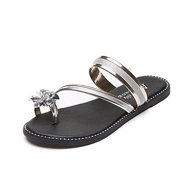 Donne'spantofole & flip-flops Primavera Estate Comfort PU Casual tacco piatto perla US8.5 / EU39 / UK6.5 / CN40