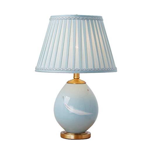 LightShop Keramik Tischlampe Amerikanischen Landhausstil Klassische Lampe Schlafzimmer Wohnzimmer Knopfschalter Lampe -