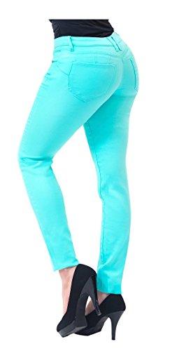 Omega-3-minze (HyBrid & Company Damen Butt Lift Stretch-Denim jeans 3 Minze)
