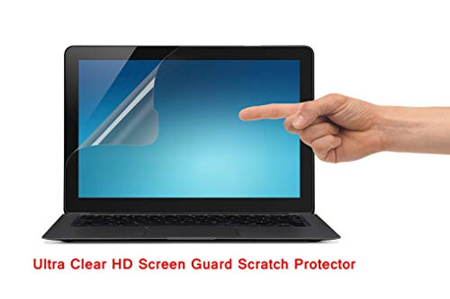 Saco Ultra Clear Glossy HD Screen Guard Scratch Protector for Dell Inspiron 15 7000 7558 15.6-Inch Convertible 2-in-1 Touchscreen Laptop - 15.6 inch Laptop