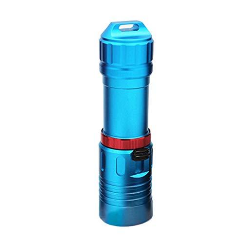 P12cheng LED-Taschenlampe, tragbare Unterwasser-Taschenlampe, 850 lm, L2/T6 LED, helle Taschenlampe für den Außenbereich, Aluminiumlegierung, blau, T6* Stun Pen