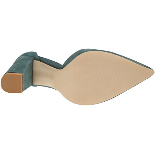 Steve Madden Damen Pampered Pumps Blockabsatz Schuhe Schnürung Nubuk Leder Teal