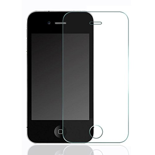 SODIAL(R) Premium Tempered Glass Screen Protector Ultra-Clear High Quality Ultra Scratch-Resistant hardness 9H for IPhone 3G 3GS