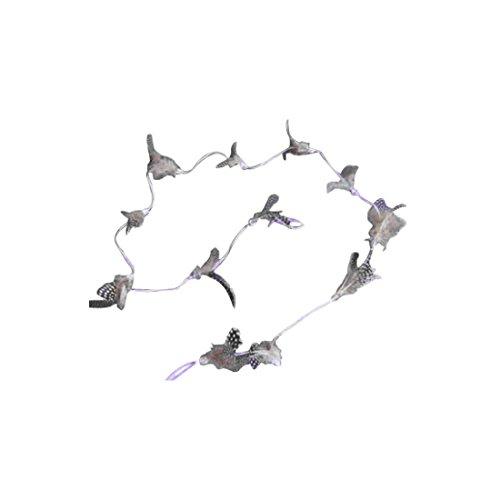 Dekogirlande FEDER - natur - Federgirlande - 1,2 m - Dekohänger - Anhänger - Feder - Perlhuhn (Exotica-anhänger)
