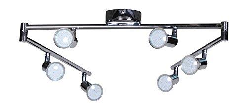 wohnling 6er led strahler deckenleuchte spotsystem led schienensystem gelenksystem lampe spot. Black Bedroom Furniture Sets. Home Design Ideas