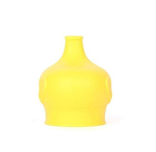 HCFKJ Sicherheit FüR Kinder Silikon Sippy Deckel Machen Sie Die Meisten Tassen Eine Sippy Cup Leak Proof (GELB) -