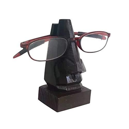 Brillenhalter Aus Holz Brillen-Halter-Hölzerner Brillen-Ausstellungsstand Handgemachte Holz Nase geformt Specs Stand Spektakel Halter,für Männer Und Frauen Heim-Deko,Spezifikationen Halter