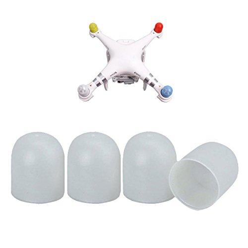 Flycoo 4 stücke Silikon Gel Cap Motor Abdeckung Für DJI Phantom 3/4/4 Pro / Pro Schutz Schutz Zubehör (Weiß) (Phantom Guard 2 Vision)