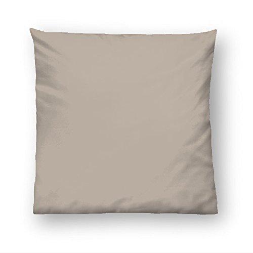 biberna 0065600 Baumwoll-Satin Kissenhüllen, 80 x 80 cm, taupe