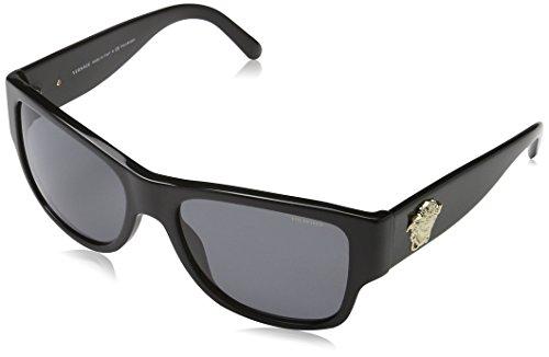 Versace Herren VE4275 GB1/81 Sonnenbrille, Schwarz (Black), One size (Herstellergröße: 58)
