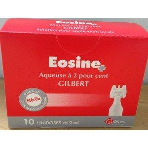 EOSINE AQUEUSE GILBERT 10 unidoses de 2 ml