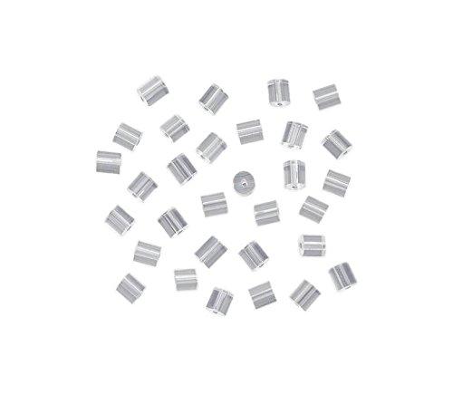 homiki Lot de 144 Poussoir Clous d'Oreilles Apprêt Fermoirs de Boucles d'oreilles plastique Pad