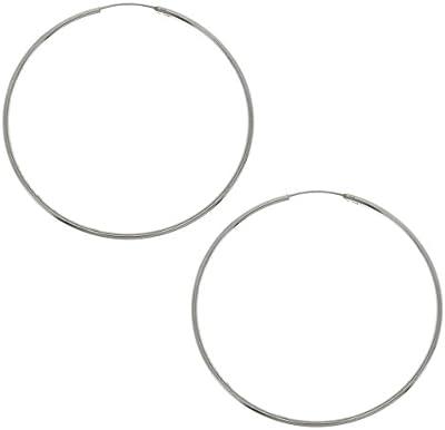de ley pendientes de la joyería de plata de los aros indio hecho a mano de diámetro 60 milímetros