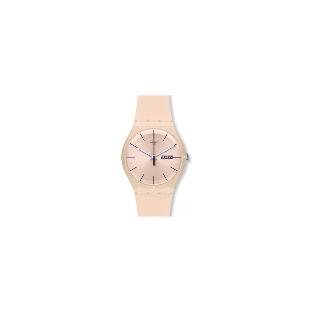 31Iu%2BXMo3YL. SS1200  - Swatch Reloj Analógico de Cuarzo para Mujer con Correa de Silicona - SUOT700