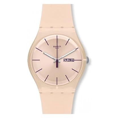Swatch Reloj Analógico de Cuarzo para Mujer con Correa de Silicona – SUOT700