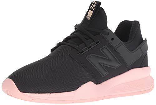 New Balance Damen 247v2 Sneaker, Schwarz (Black/Himalayan Pink Coral), 39 EU