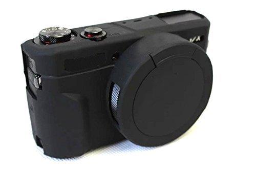 Hihouse Funda de Cámara Deportivas Caja de Protección de Silicona Suave Para Canon PowerShot G7x Mark II (negro)