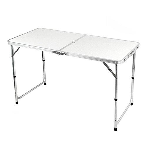 Myifan Mesa plegable de aluminio portátil con asa de transporte para cocina, jardín, fiesta, picnic, acampada