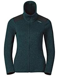 Odlo - Lucma X Midlayer Full Zip, color verde , talla L