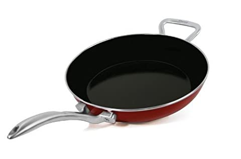Chantal Copper Fusion 10-Inch Fry Pan, Chili Red by Chantal