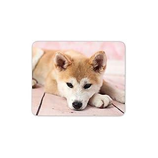 Cute Puppy Mouse Mat Pad - Japanese Shiba Inu Dog Akita Fun Gift Computer #15295