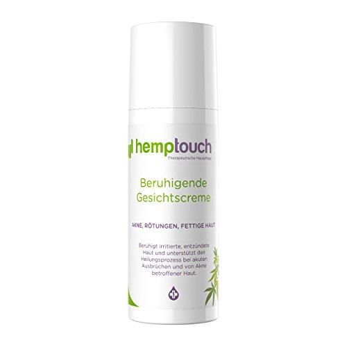 Hemp Cream - Organic Acne Cream - Calming, rebalancing Formula for Acne Prone, combination, grasses or Crème Blemish-Prone Skin. Hemp Oil and Hemp Flower Hydrolat Formula, 50 ml