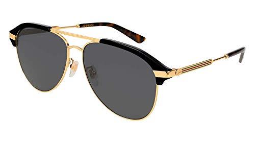 Gucci Herren GG0288SA-001 Sonnenbrille, Schwarz (Negro/Dorado/Multicolor Metal), 60