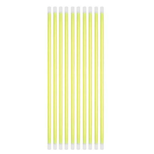 Bureze 100 Stück Fluoreszierende Lichter Leuchtstäbe Armbänder Halsketten für Hochzeit Party Festival Bühne Kostüm Leuchtstab Neon Light Stick gelb