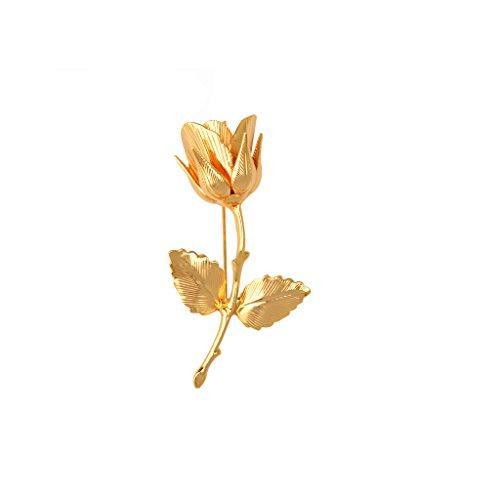 Elegant 24k Vergoldete Brosche Für Herren Anzug Hochzeit Bräutigam Jewelry - Gold-gelb