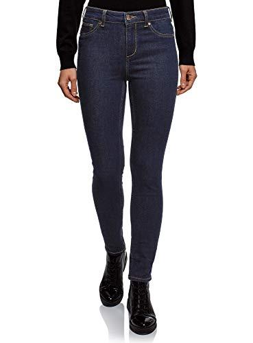 Oodji ultra donna jeans skinny a vita alta, blu, 28w / 32l (it 44 / eu 40 / m)