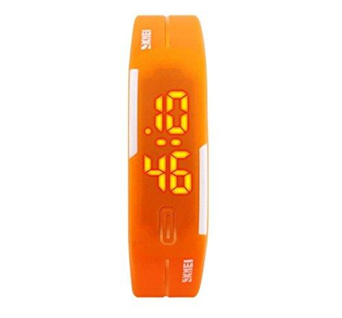 WATCH Young Damen und Herren Sport Uhren Mode Schwimmen Armbanduhr Casual Jelly Digital Armbanduhr, orange (Jelly-damen-uhr)