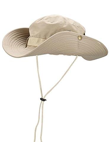 Novawo Mens Chapeau de P¨ºche en Plein Air Polyvalent UPF Soleil Plage Chapeau ¨¤ Bords Larges et Jugulaire