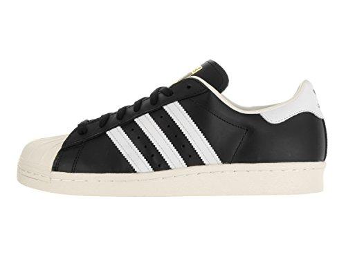 Adidas Superstar 80's Cuir Baskets Black-Black-Chalk White