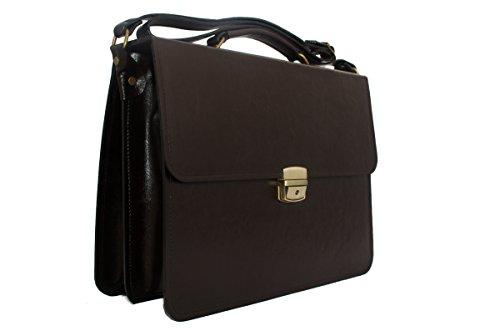 Luxus-Leder-Aktentasche Business-Notebook Aktentasche (Herren Griff Clarks)