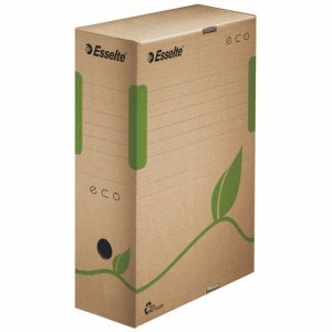 25 x Esselte Archiv-Box ECO 100 mm Karton naturbraun