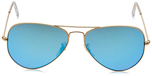 Ray-Ban - Lunettes de Soleil - RB3025 Aviator Metal Aviator Polarisée 58 mm Or (112/4L)