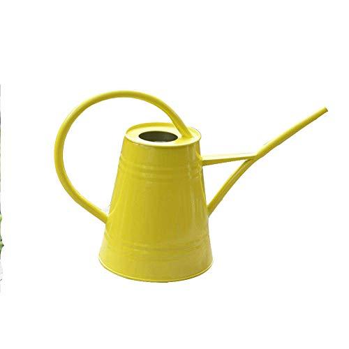 wangxn Arrosoir Arrosoir en métal galvanisée couleur grand 2.2 Litres yellow Photo couleur
