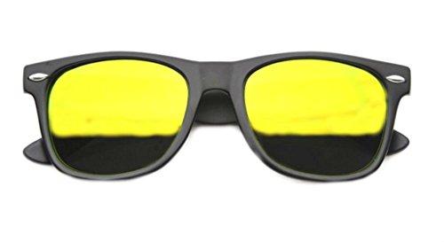 Kiss Wayfarer Sonnenbrille, Vintage-Stil, 80er-Jahre, klassischer Stil, Gelb