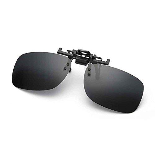 Meisijia Men Fashion Square polarisierte Clip-On Flip Up Metallclip-Sonnenbrille