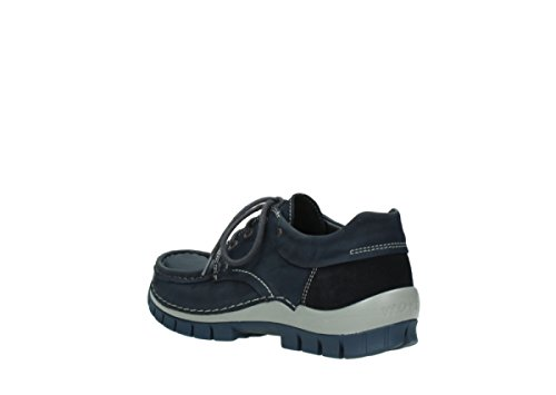 Wolky Comfort Chaussures à lacets Fly winter 50810 nubuck gris bleu