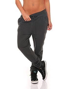 malito Pantaloni Classic-Design Boyfriend Twist Aladin Sbuffo Pantaloni Pump Baggy Yoga avvolgere 8010 Donna Taglia...