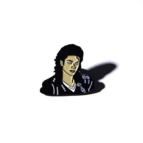 Eliky Brosche Figur Gesicht Emaille Metall Pin Packbag Jacke Dekor Schmuck